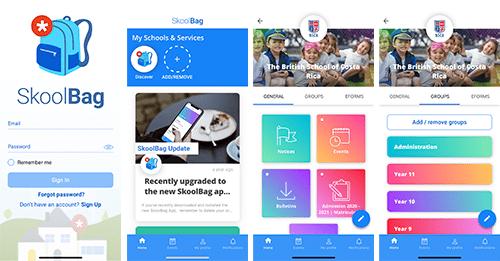 Skoolbag BSCR Mobile Phone App